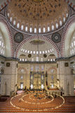 Internal view of Suleymaniye Mosque, Istanbul Stock Photo