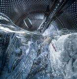 Internal view of a washing machine Royalty Free Stock Photo
