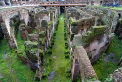 Internal wide angle view of the Colosseum in Rome Royalty Free Stock Photo
