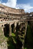 Internal wide angle view of the Colosseum in Rome Royalty Free Stock Image