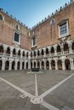 Internal Yard of Doge's Palace (Palazzo Ducale) in Venice Stock Photo