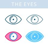 internals象 眼睛和眼力传染媒介概述标志 免版税库存图片