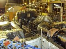 Internals компрессора нефти и газ Стоковое Изображение RF