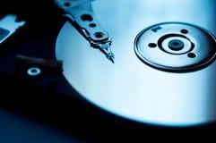 Internals av en harddisk HDD Arkivfoto