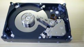 Internals da movimentação de disco rígido de SATA filme