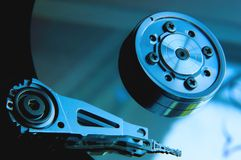 Internals di un disco rigido HDD Fotografia Stock