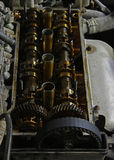 The internals of the engine Stock Photo