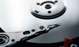Internals of a harddisk HDD Stock Image