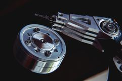 Internals of a harddisk HDD Royalty Free Stock Image