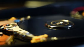 Internals Of HDD stock video footage