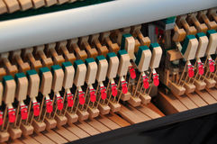 Internals of a piano Stock Images
