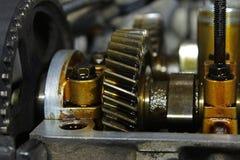 Internalsna av motorn Arkivbilder