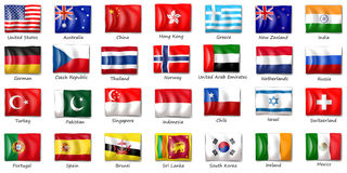 Internatinal flags Royalty Free Stock Photos