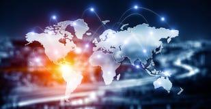 Internationaal bedrijfsvennootschap Gemengde media Stock Afbeelding