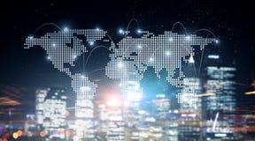 Internationaal bedrijfsvennootschap Gemengde media Stock Afbeeldingen