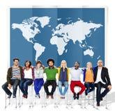 Internationaal Co wereld Globaal van de Bedrijfscartografieglobalisering Stock Afbeeldingen