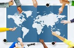 Internationaal Co wereld Globaal van de Bedrijfscartografieglobalisering Royalty-vrije Stock Foto's