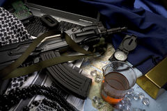 Internationaal conflict stock foto