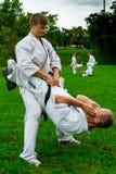 Internationaal de karate van de zomerkyokushinkai opleidingskamp in Hongarije Royalty-vrije Stock Fotografie