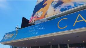 Internationaal filmfestival jaarlijkse de kunstgebeurtenis in van Cannes, Frankrijk, filmpremière stock videobeelden