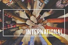 Internationaal Globaal Communautair Reisconcept Stock Foto's