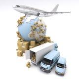 Internationaal goederenvervoer Stock Foto's