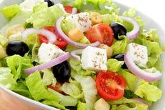 Internationaal groen saladewhit tomateneind feta royalty-vrije stock foto
