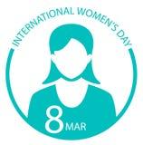 Internationaal het tekenembleem van de Vrouwendag Stock Fotografie