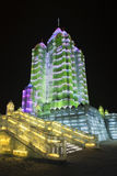 Internationaal Ijs en Sneeuwbeeldhouwwerkfestival, Harbin, China Royalty-vrije Stock Fotografie