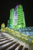 Internationaal Ijs en Sneeuwbeeldhouwwerkfestival, Harbin, China Royalty-vrije Stock Afbeelding