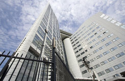Internationaal Misdadig Hof in Den Haag Stock Foto
