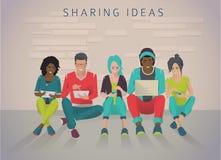 Internationaal multicultureel team stock illustratie