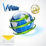Internationaal per e-mail versturen Royalty-vrije Stock Foto
