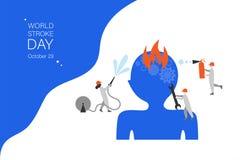 Internationaal vector de bannermalplaatje van de slagdag vector illustratie
