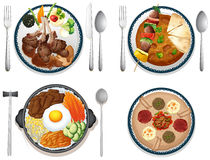 Internationaal voedsel Stock Foto