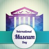 International Museum Day, 18 May. Heritage museum monument building conceptual illustration stock illustration