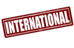international ilustracja wektor