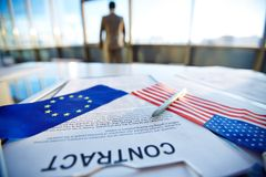 International agreement Stock Photography