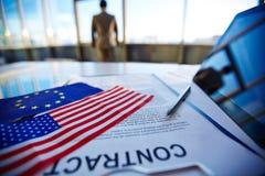 International agreement Stock Photos
