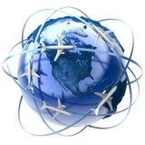 International air travel vector illustration