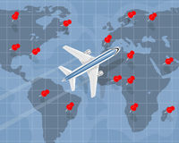 International air travel Stock Images