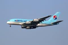 International Airp de Seul Inchon del aeroplano de Korean Air Airbus A380 Imágenes de archivo libres de regalías