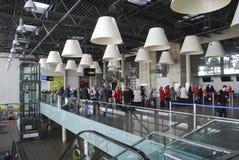 International airport. Kaunas international airport in Lithuania Stock Image