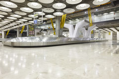 International airport baggage belt claim area. Nobody. Travel ba Royalty Free Stock Image