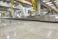 International airport baggage belt claim area. Nobody. Travel ba Stock Image