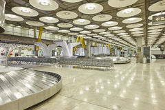 International airport baggage belt claim area. Nobody. Travel ba Royalty Free Stock Images