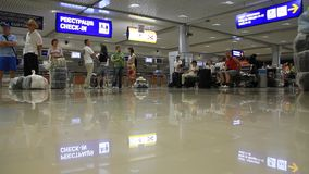 International airport Borispol. Waiting space in new terminal F Royalty Free Stock Photography