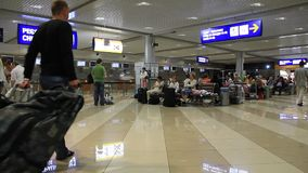International airport Borispol. Waiting space in new terminal F Stock Images