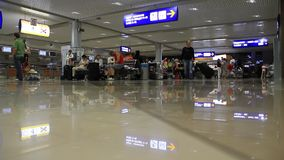 International airport Borispol. Waiting space in new terminal F Royalty Free Stock Photos
