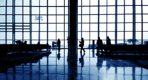 International Airport Business Commuter Concept Royalty Free Stock Images